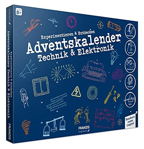 FRANZIS 67117 - Adventskalender Technik & Elektronik 2020 - 24 spannende Versuche zum Experimentieren & Entdecken, für Kinder und Technikgenies ab 8 Jahren