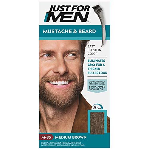 Just For Men Schnurbarrt und Bart Farbgel zum einpinseln Mittelbraun M-35