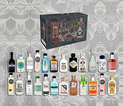 Gin Tasting Adventskalender Geschenk Probierset - 24 verschiedene Gin Sorten - Weihnachtsgeschenk Geschenkset...