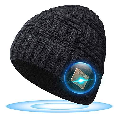 Geschenke für Frauen und Männer Mütze mit Bluetooth Kopfhörer - Wichtelgeschenk Bluetooth Mütze Adventskalender, Geschenkideen für Weihnachten Nikolaus Geschenke, Mütze Winter für Laufen/Gehender Hund