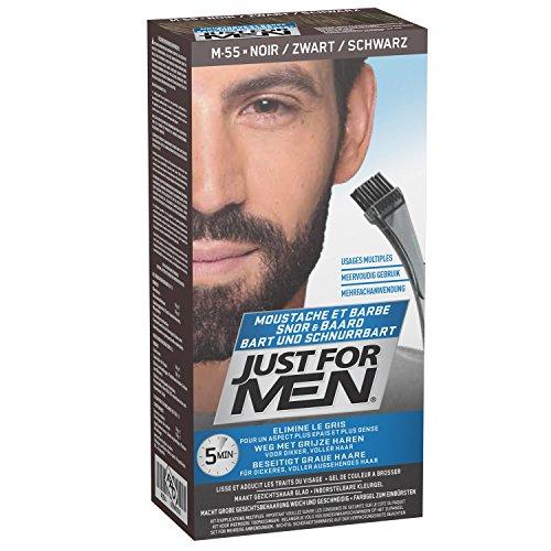 Just for men Moustache & Beard eliminiert Grau für einen dickeren und volleren Look - M55, Schwarz (Real...