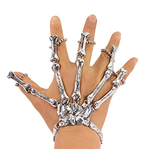 Oblique Unique® Skelett Hand Knochen für Halloween Fasching Karneval Party Verkleidung Kostüm Zubehör...