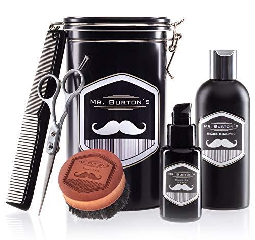 Bartpflegeset Bartpflege aus Deutschland Mr Burton´s - inkl. Bartöl classic (50ml), Bartshampoo (200ml),...