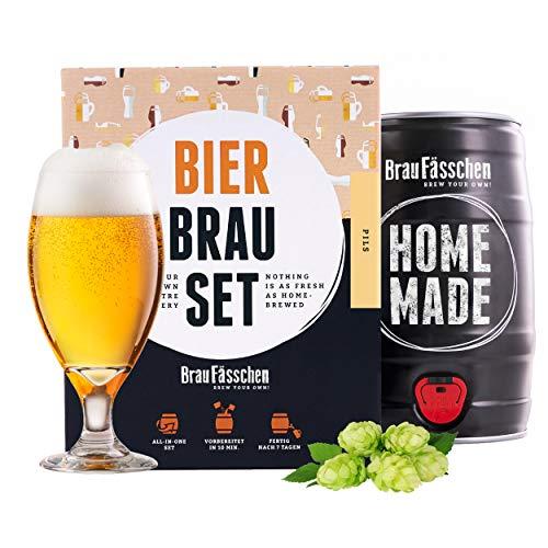 braufaesschen |Bierbrauset zum selber brauen | Pils im 5 Liter Fass | In 7 Tagen fertig Männer, Freund oder...