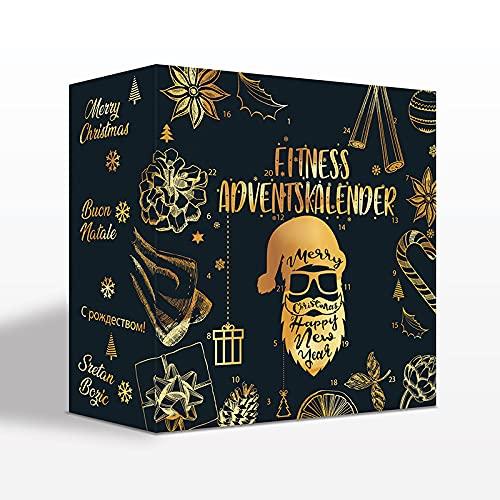 EIWEISS KÖNIG FIRST CLASS BODY NUTRITION Sport Fitness Adventskalender 2021 Kalender Gold Edition mit 24 Geschenken Männer Frauen mit Proteinmandeln, Riegel, Proteinriegeln UVM.