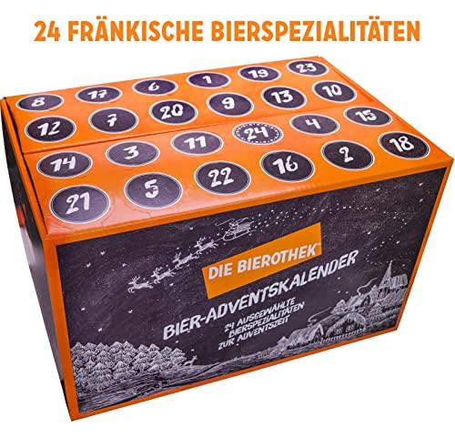 Bierothek® Fränkischer Bier-Adventskalender (Perfektes Weihnachtsgeschenk   24 bierige Überraschungen für die Adventszeit)
