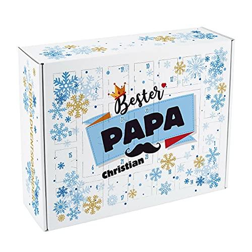 Herz & Heim® Adventskalender für Papas zum Befüllen mit Namen Bedruckt