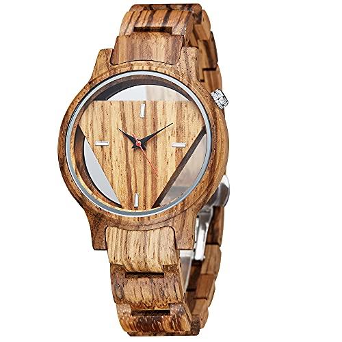 Holzuhr Damen Armbanduhr Herren Holz Holzuhren Geschenke für Männer Analog Quarzwerk Herrenuhr Damenuhr mit Armband Verstellbarem