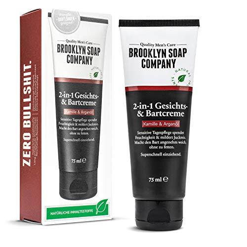 Bartcreme & Gesichtscreme (75 ml) · 2-in-1 Bartpflege der BROOKLYN SOAP COMPANY · Alternative zum Bartöl...
