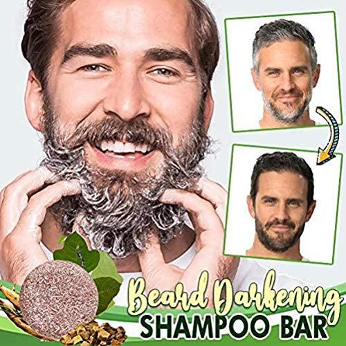 Vssictor Shampoo Bart Verdunkelung Shampoo Bar Bart Waschbar Haar Verdunkelung Shampoo Seife für Männer