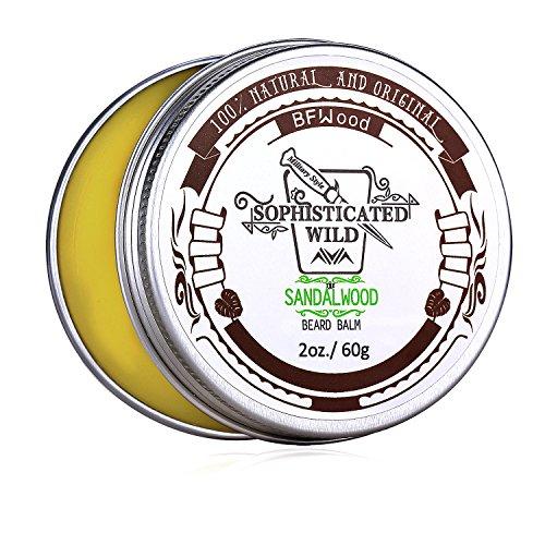 BFWood Sandelholz-Geruch Bart-Balsam für Männer 60g – Zähmt, spendet Feuchtigkeit, pflegt Ihren...