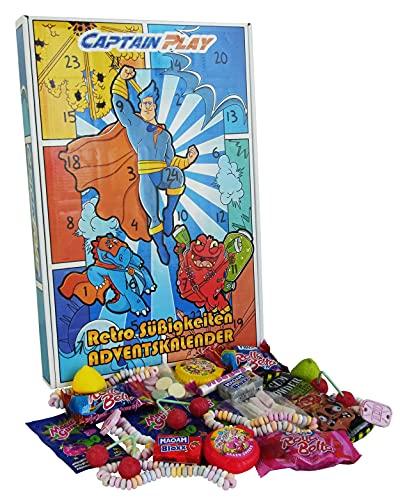 CAPTAIN PLAY | Retro Süßigkeiten Adventskalender | 360g