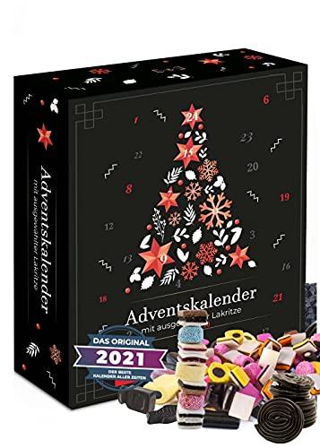 Adventskalender Lakritz I echte Lakritze im Adventskalender 2021 I 24 Lakritze im Weihnachtskalender für Lakritzliebhaber I Adventskalender Männer Frauen nur für Erwachsene