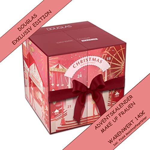 DOUGLAS Adventskalender 2021 Make Up Würfel -EXKLUSIV EDITION- Frauen + Mädchen Kosmetik Advent Kalender , 24 Kosmetik Geschenke Wert 140 €, MakeUp Frau, Adventkalender Damen