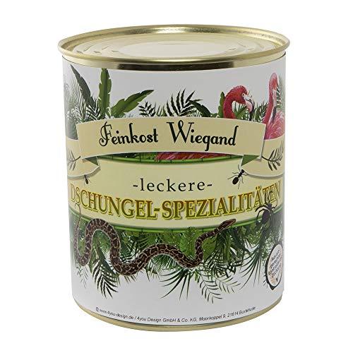 Dschungel-Spezialitäten aus der Dose - Spaßgeschenk - Scherzartikel - Wichtelgeschenk - Nikolausgeschenk - Weihnachtsgeschenk – Geburtstagsgeschenk