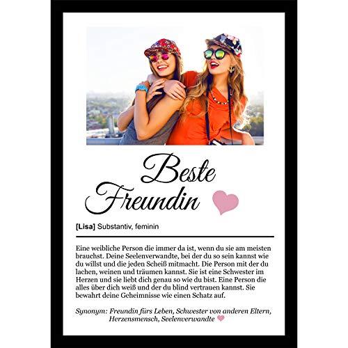 Definition Poster Wunschbild/Name | Beste Freundin Geschenk | Wandbilder Wohnzimmer | Geburtstag | Wanddeko...
