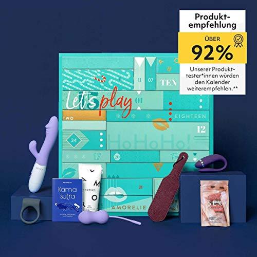 Amorelie Adventskalender 2021 Premium, Wert 410€, 24 Geschenke für Paare, Pärchen Advent-Kalender