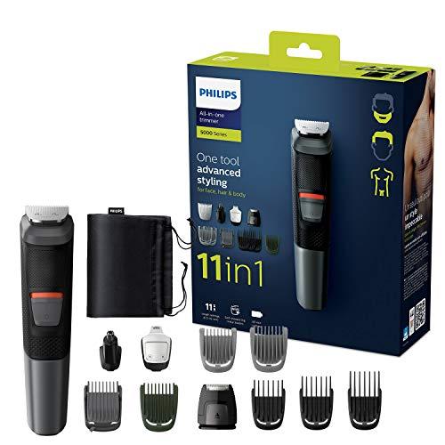 Philips 11-in-1 Multigroom MG5730/15, Barttrimmer, Haarschneider, Körpertrimmer, Ohr und Nasenhaartrimmer,...