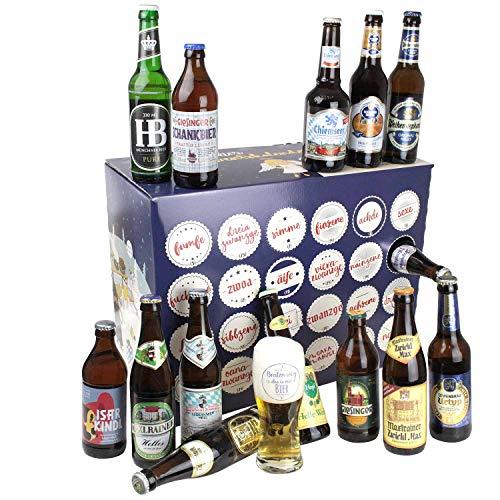 Bavariashop® Bayerischer Bier Adventskalender 2021 - Bier Kalender mit regionalen bayerischen Bieren von...