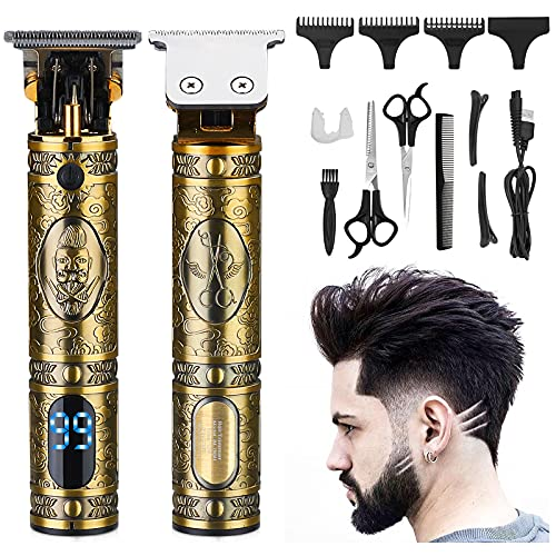 Haarschneidemaschine Haarschneider für Herren, SHAWLAM Hair Trimmer T-Blade Bartschneider Barttrimmer...