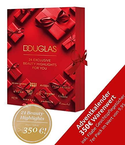DOUGLAS Adventskalender 2021 Beauty -EXKLUSIV EDITION- Frauen + Mädchen Kosmetik Advent Kalender , 24 Kosmetik Geschenke Wert 350 €, Pflege Frau, Adventkalender Damen