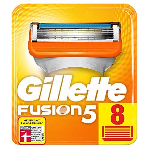 Gillette Fusion 5 Rasierklingen Für Männer, Für Eine Kaum Spürbare Rasur 8 Stück, Briefkastenfähige...