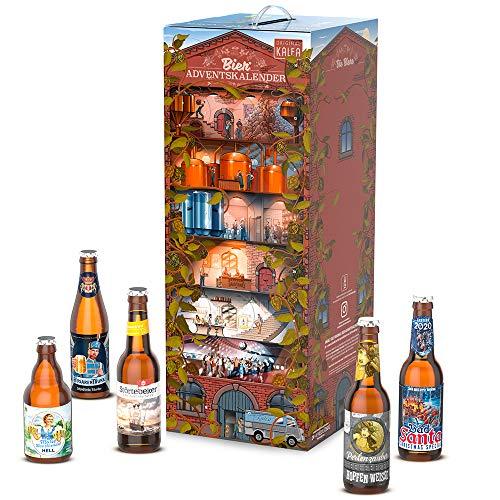 KALEA Bier Adventskalender 24 deutsche Biere von Privatbrauereien, Premium Biere, Perfektes Biergeschenk für...