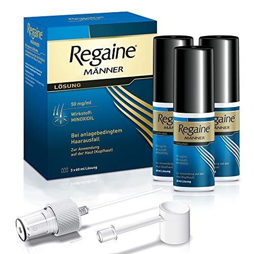 REGAINE Männer Lösung | stoppt erblich bedingten Haarausfall | 3 Monats Packung | mit 5% Minoxidil | regt...