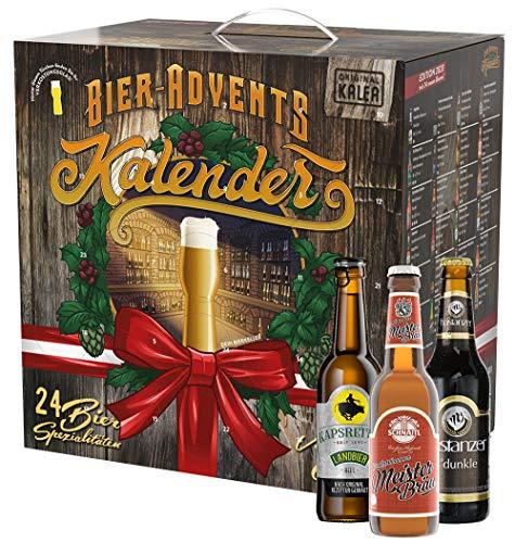 KALEA Bier-Adventkalender Edition Österreich, 24 Biere und 1 Flaschenöffner, perfektes Biergeschenk für Männer zur Vorweihnachtszeit