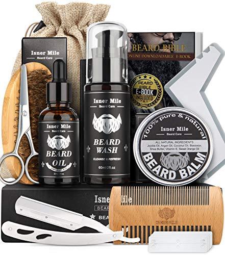Aufgerüstet Bartpflege Set für Männer Bart Wachstum Pflege & Trimmen mit Haarspülung Bartöl, Bart Balsam...