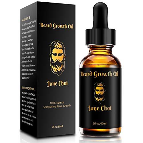 Bartöl/Beard Oil, 60ML DOPPELTE GRÖßE, 100% reines natürliches Bio-Bartaktivatorserum auf Jojobaölbasis,...
