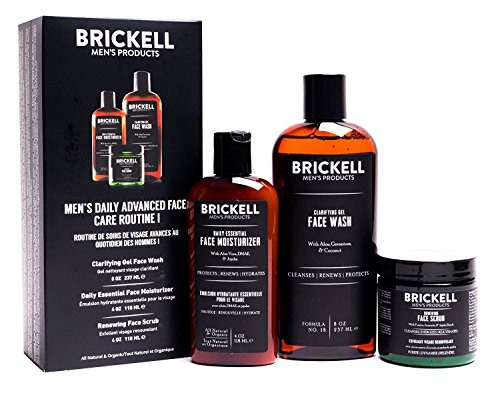 Brickell Men's Daily Advanced Face Care Routine I - Set aus Gesichtsreinigung, Feuchtigkeitscreme &...