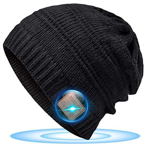 Kreative Geschenke für Jugendliche Bluetooth Mütze - Männer Geschenkideen Weihnachten Coole Sachen Technik Geschenke für Teenager, Mütze mit Bluetooth Kopfhörer Papa Herren Vater Geschenke Weihnachten