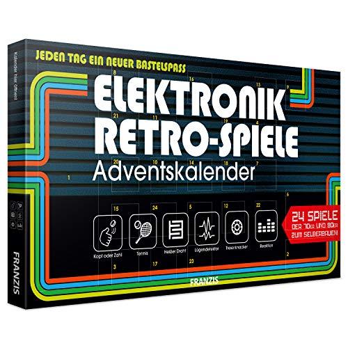 Franzis 67083 Elektronik Retro Spiele Adventskalender 2019   24 Spiele der 70er und 80er zum Selberbauen ohne...