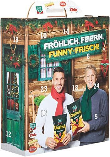 Funny-Frisch Intersnack-Adventskalender Schweinsteiger & Podolski 'Unser Wintervorrat', 790g