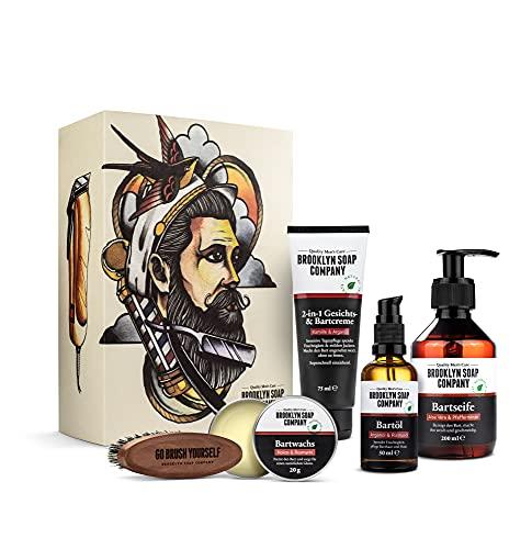 Ultimate Beard Box · Brooklyn Soap Company · Hochwertiges Bartpflege Set inkl. Bartöl, Bartshampoo,...