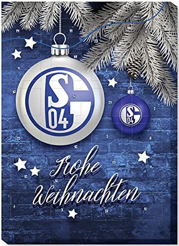 FC SCHALKE 04 Adventskalender 2021 Klassik Schoko Weihnachtskalender Fußball Bundesliga S04 (€ 7,42/100g)