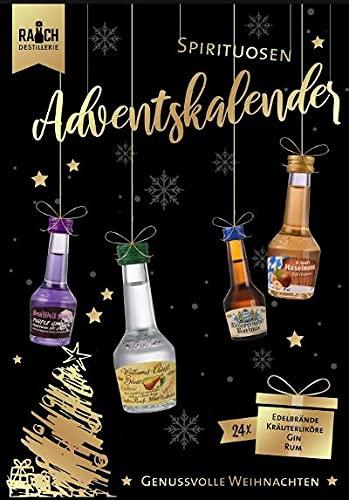 Dr. Rauchs Spirituosen Adventskalender 24 x 20ml 25-40% Vol Gin Rum Kräuterliköre Edelbrände