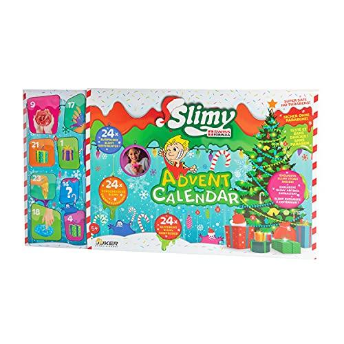 Slimy Adventskalender mit 24 verschiedenen Spielmassen - Original Slime Set, weihnachtlicher Spielspaß für Kinder mit Schleim im Geschenk-Set (Spielzeug ab 3 Jahre)