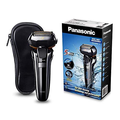 Panasonic Premium Rasierer ES-LV6Q mit 5 Scherelementen, Nass- & Trockenrasierer mit flexiblem 3D-Scherkopf &...