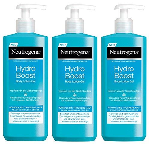 Neutrogena Hydro Boost Body Lotion Gel, erfrischende und ultraleichte Körperlotion für trockene Haut mit...