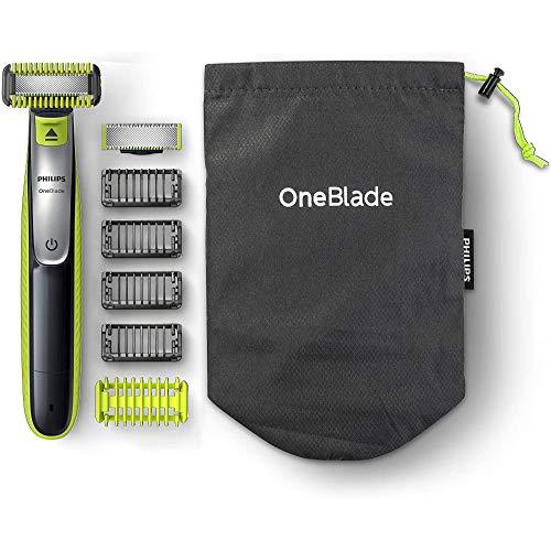 Philips Oneblade Face + Body QP2630/30, mit 2 Klingen (1x Gesicht, 1x Körper), 4 Trimmaufsätzen und 2...