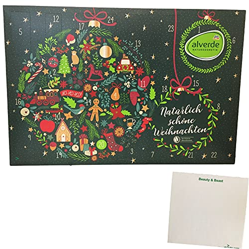 alverde Naturkosmetik Adventskalender'natürlich schöne Weihnachten' (1St) + usy Block