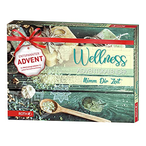 ROTH Wellness-Adventskalender 'Nimm dir Zeit' 2021 gefüllt Wellnessartikeln, Entspannungs-Kalender zur Vorweihnachtszeit