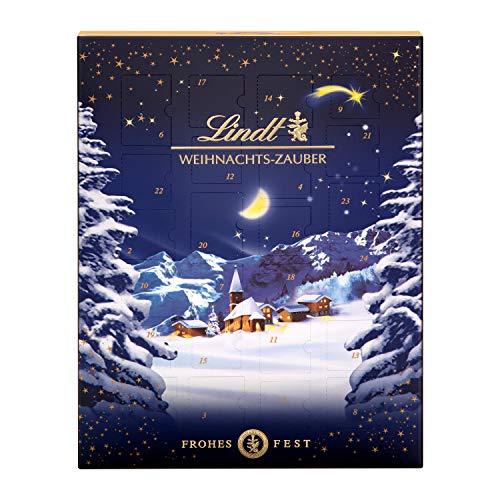 Lindt Weihnachts-Zauber Adventskalender 2021 | 265 g Milchschokolade und Weihnachtspralinen | Ideales Schokoladen-Geschenk