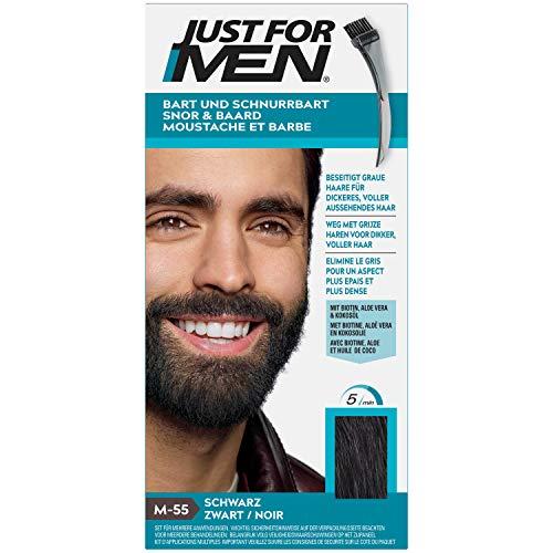 Just for Men Schnurrbart und Bart Schwarz Farbstoff, eliminiert Grau für ein dickeres und volleres Aussehen...