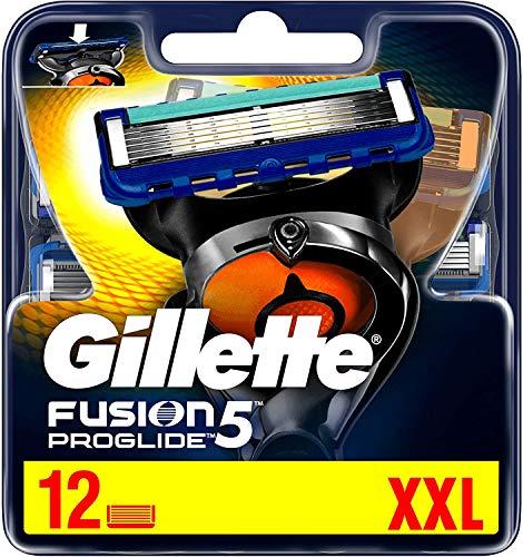 Gillette Fusion 5 ProGlide Rasierklingen mit Trimmerklinge für Präzision und Gleitbeschichtung, 12...