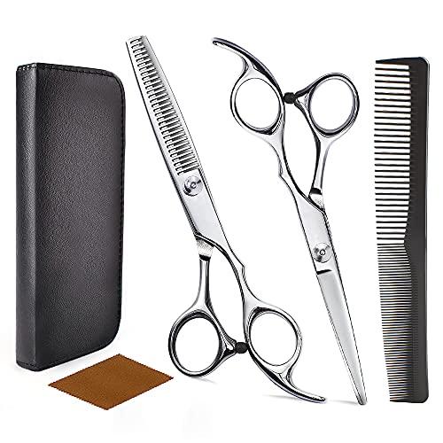 Haarschere Set, Haare Schneiden, Schere Haare Schneiden, 2 Professionelle Friseurscheren, Geeignet für Damen-...