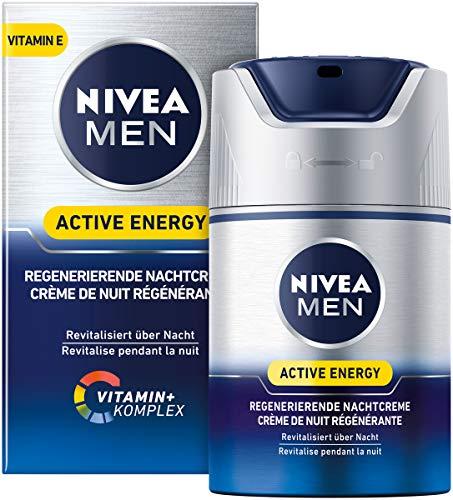 NIVEA MEN Active Energy Regenerierende Nachtcreme im 1er Pack (1 x 50 ml), regenerierende Nachtcreme für Männer, Feuchtigkeitscreme pflegt über Nacht
