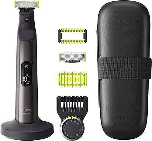 Philips OneBlade Pro Face + Body QP6650/30 2 Klingen, Präzisionskamm 14 Längeneinstellungen,...